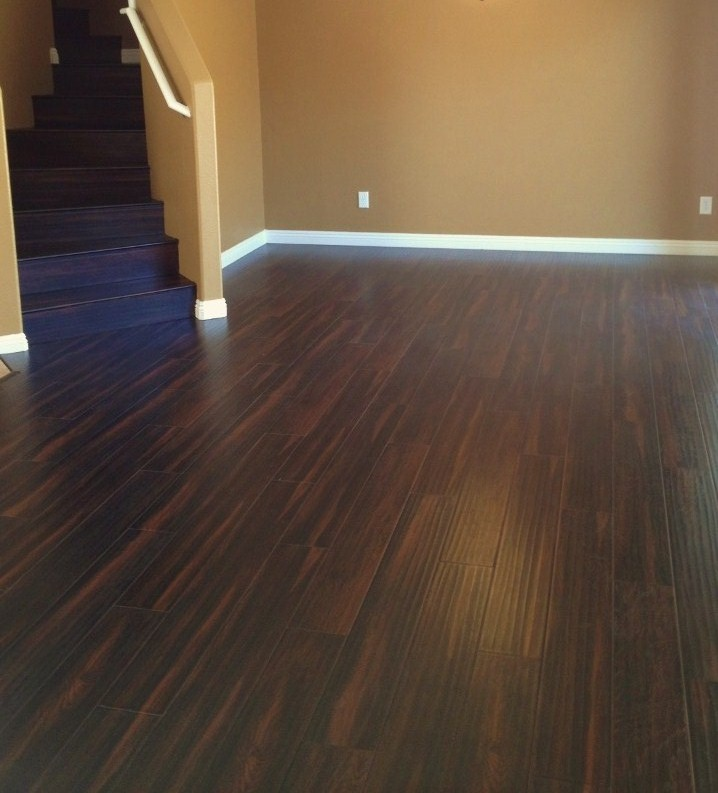 Laminate flooring dark chocolate laminate flooring for Formica flooring