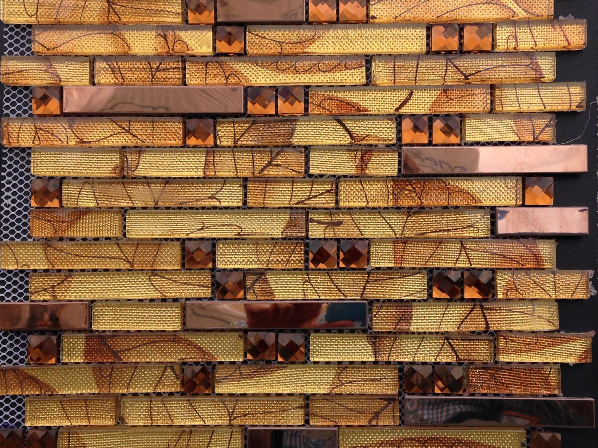 Mosaic Glass Mix Seasobns Fall Strips