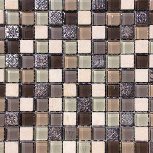 Mosaic Glass Mix 1x1 Arcadia Verde