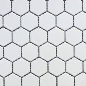Hexagon White Matte 2x2