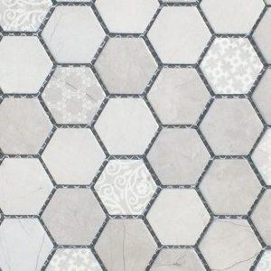 Mosaic Pocelain 1x1 Artisan Grigio