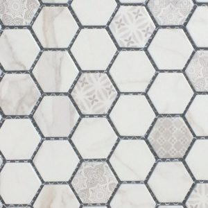 Mosaic Porcelain 1x1 Artisan Carrera