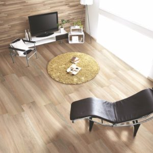 A living room with Acanto Tile flooring