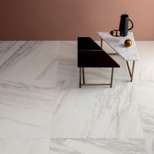 A room with Lea Ceramiche Delight Tile Venato Bianco flooring