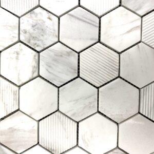 Aria Honed Mosaic Hex Tile