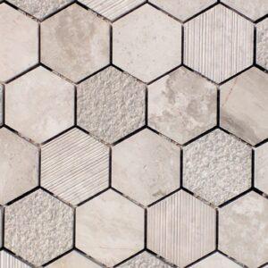 Hex Milano Gris Mosaic Tile