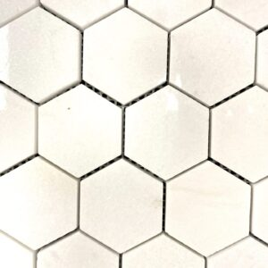 Pure White Mosaic Hex Tile