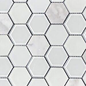 Imagery Diamond Hex Mosaic Tile