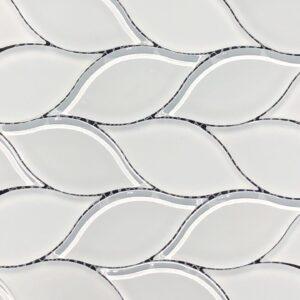 Imagery White Leaf\Bianco Leafette Mosaic Tile