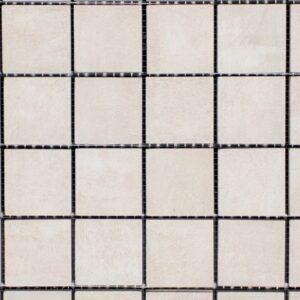 Icon Bone White Mosaic Porcelain Tile