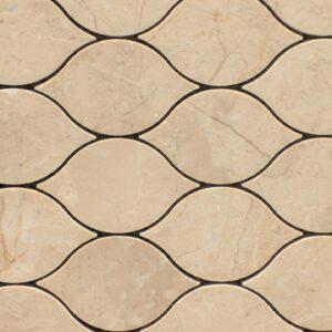 Raindrop Torino Cream Mosaic Porcelain Tile