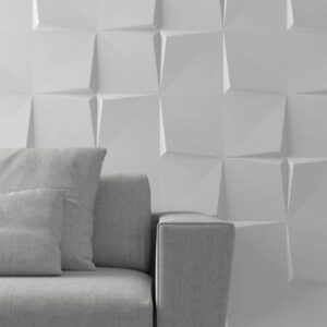 Quasar Tile across a wall in a modern home.