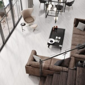 Snowy Tile in a modern, contemporary living room