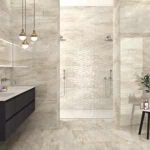 A designer bathroom with APE Grupo Gio Natural Tile