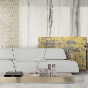 A designer contemporary living room with Prexious of Rex tile